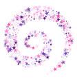 cosmic sparkles stylish design vector image