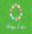 Easter festive green card vector image