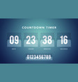 flip countdown clock counter timer for website vector image vector image