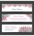 floral headers vector image
