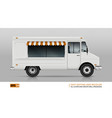 food truck view from right side vector image vector image