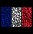 french flag pattern of gentleman pray icons vector image