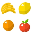 Fruits flat icons set vector image vector image