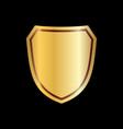 gold shield shape icon 3d golden emblem sign vector image vector image