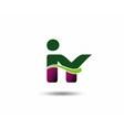 Letter i and Y monogram logo vector image