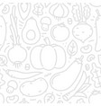 lineart flat style vegetables seamless vector image vector image