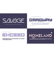 modern uppercase letter sets with a vector image vector image