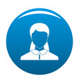 new woman avatar icon blue vector image vector image