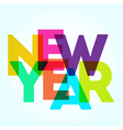 NY2016 Color Letters 3 vector image vector image