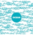 Ocean seamless pattern with fish vector image