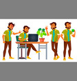 office indian worker adult business male vector image