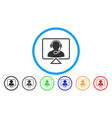 online support rounded icon vector image vector image