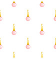 pink pearl pendant pattern seamless vector image vector image