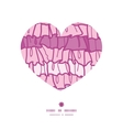 pink ruffle fabric stripes heart silhouette vector image vector image