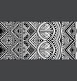 polynesian tattoo style ornament vector image