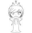 Princess Coloring Page 6 vector image vector image
