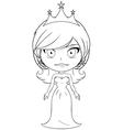 Princess Coloring Page 6 vector image