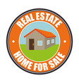 real state home for sale vector image