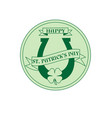 saint patricks day circle label with horseshoe vector image vector image