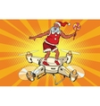 Santa Claus flying on a quadcopter vector image vector image