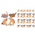 seamless background design with different mouse vector image