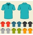 Set of templates colored polo shirts for men vector image vector image