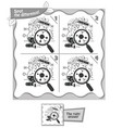 spot the difference black and white game vector image vector image