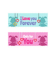 valentine sticker collection vector image vector image