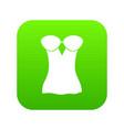 vintage corset icon green vector image