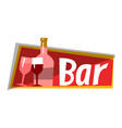 wine alcohol bar cafe restaurant logo vector image
