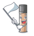 with flag faundation makeup in a cartoon bottle vector image