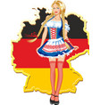 young and beautiful bavarian girl isolated over vector image vector image
