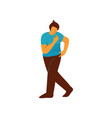 young man dancing male dancer character vector image
