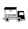 truck delivery with box service icon vector image