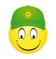 cartoon emoticon smiley vector image