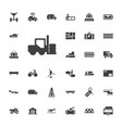 33 transportation icons vector image vector image