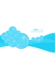 Abstract background with waves of water and vector image vector image
