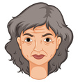 Adult woman with aged skin vector image vector image
