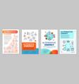 alternative energy brochure template layout vector image vector image