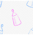 baby bottle on a transparent background vector image vector image