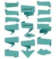 banner ribbon Ribbons icon set blue vector image vector image