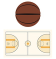Basketball court and ball vector image