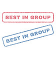 best in group textile stamps vector image vector image