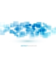 Blue shiny squares technical background vector image vector image