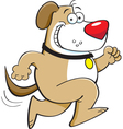 Cartoon Running Dog vector image vector image