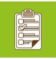 checklist icon design vector image vector image