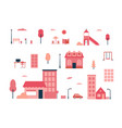city elements - flat design style set of isolated vector image vector image