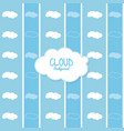 cloud design wheater icon colorful vector image