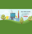 coal power station energy industry with towel vector image vector image