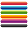 colorful rounded banner button backgrounds with vector image vector image